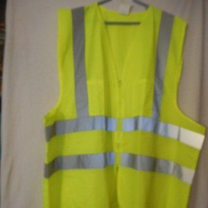 Lot 2 Unisex Size XXXL Neon Yellow Safety Vest